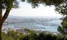 Palma de Majorca. Panorama of Palma de Majorca with harbor stock photos