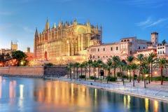 Palma de Majorca大教堂  免版税图库摄影