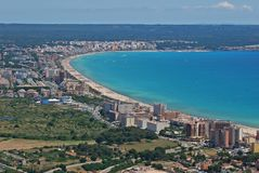 Palma de Majorca bay. Aerial view Stock Photography