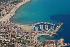 Palma de Majorca bay. Aerial view Royalty Free Stock Image
