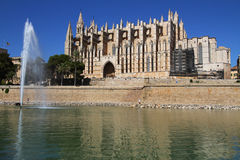 Palma de Majorca's cathedral Stock Images