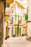 Palma de Majorca Spain, empty street at the old town Royalty Free Stock Photo