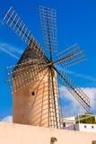 Palma de Majorca windmills wind mill in Mallorca Royalty Free Stock Images
