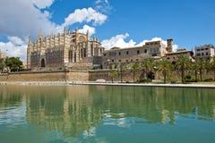 Palma de Mallorca大教堂  库存照片