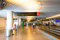 Palma de Mallorca Airport korridor Royaltyfri Fotografi
