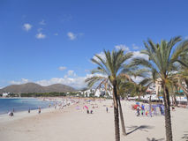 Palma de mallorca: alcudia beach. Summer landscape of one of the most beautiful coasts of palma de mallorca Stock Images