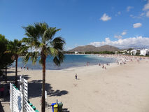 Palma de mallorca: alcudia beach Royalty Free Stock Photo