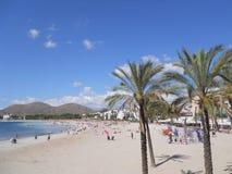 Palma de Mallorca: alcudiastrand Arkivbilder
