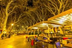 Palma de Mallorca alla plaza de Major Majorca Spain di notte Fotografia Stock