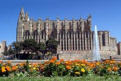 Palma de Mallorca - Balearic Islands, Spain. Facade of the Cathedral - Palma de Mallorca - Balearic Islands Royalty Free Stock Images