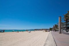 Playa de Palma beach Royalty Free Stock Images