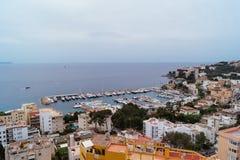 Palma de Mallorca Buildings en Kustlijn Royalty-vrije Stock Foto