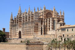 Palma de Mallorca cathedral stock image