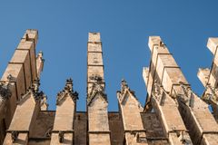 Palma de Mallorca Cathedral en Espagne un jour d'été photo stock