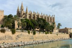 Palma de Mallorca Cathedral. In Baleares Royalty Free Stock Images