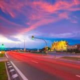 Palma de Mallorca Cathedral Seu sunset Majorca Stock Image