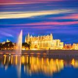 Palma de Mallorca Cathedral Seu sunset Majorca Stock Photos