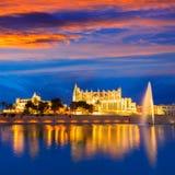Palma de Mallorca Cathedral Seu sunset Majorca Royalty Free Stock Images