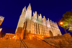 Palma de Mallorca Cathedral Seu sunset Majorca Royalty Free Stock Image