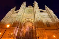 Palma de Mallorca Cathedral Seu sunset Majorca Royalty Free Stock Photos