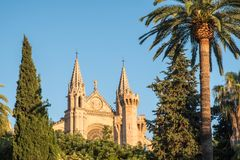 Palma de Mallorca Cathedral in Spain Royalty Free Stock Photos