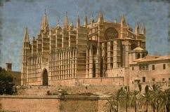 Palma de Mallorca cathedral - Vintage Stock Images