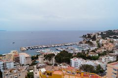 Palma de Mallorca Buildings and Coastline Royalty Free Stock Photo