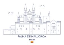 Palma de Mallorca City Skyline, Espagne Photo libre de droits