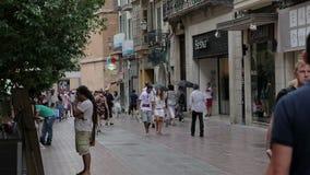Palma de Mallorca, de straten van de stad stock video