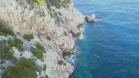 Palma de Mallorca, Espanha de Majorca, penhascos, metragem do zangão, vista aérea, vista alta-acima video estoque