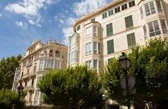Palma de Mallorca facades Royalty Free Stock Photo