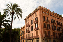 Palma de Mallorca facades Royalty Free Stock Image