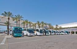 Palma de Mallorca flygplats i Juli Arkivbild
