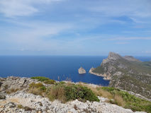 Palma de Mallorca : Formentor. Beautiful panoramic view of the coast of formentor Stock Photo