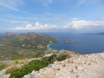 Palma de Mallorca : Formentor. Beautiful panoramic view of the coast of formentor Royalty Free Stock Photo