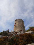 Palma de mallorca : formentor tower. Front view of the famous tower of formentor Royalty Free Stock Image
