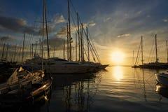 Palma de Mallorca harbour royalty free stock photos