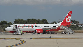 Palma de Mallorca, Hiszpania: Lotniczy Berliński Boeing 737-800 zdjęcie stock