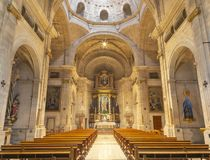 PALMA DE MALLORCA HISZPANIA, STYCZEŃ, - 29, 2019: Nave kościelny Iglesia de Santa Maria Magdalena zdjęcia stock