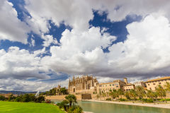 Palma de Mallorca, La Seu, Spain Royalty Free Stock Images
