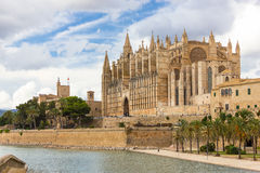 Palma de Mallorca, La Seu, Spain Royalty Free Stock Photography