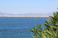 Palma de Mallorca landscape. Spain. Beautiful blue waters of Mediterranean sea Royalty Free Stock Images