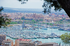 Palma de Mallorca, Majorca, Balearic Islands, Spain. Palma seen from Bellver Castle on June 11, 2012. Palma is one of the main tourist centers of all the Royalty Free Stock Image