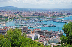 Palma de Mallorca, Majorca, Balearic Islands, Spain. Palma seen from Bellver Castle on June 11, 2012. Palma is one of the main tourist centers of all the Stock Image