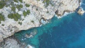 Palma de Mallorca, Majorca Spanien, Klippen, Brummengesamtlänge, Vogelperspektive, hoch--oben Ansicht stock video