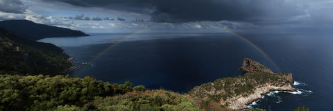 Palma De Mallorca. O a stormi day Royalty Free Stock Photos