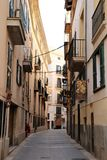 Palma de Mallorca Old Town-straat royalty-vrije stock afbeeldingen