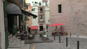 Palma de Mallorca, Openluchtkoffie stock video