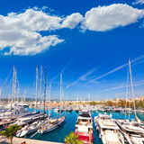 Palma de Mallorca port marina in Majorca Balearic Stock Photos