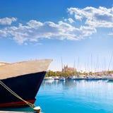 Palma de Mallorca port marina Majorca Cathedral Stock Image